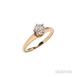 Antique 14kt Gold and Diamond Ring